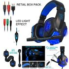 NEW DELUXE HEADSET HEADPHONE WITH MICROPHONE FOR DESKTOP PC MP3 IMAC MACBOOK PRO