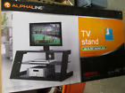 NEW Alpha Line Model: 10686 Wood And Glass T.V. Stand (LOCAL PICK UP)(450)