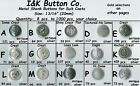"10 to 1000 pcs. Silver Metal 13/16"" 3/4"" 20mm Blazer Buttons - Costumes - CHOICE"