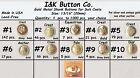 "10 to 1000 pcs. Antique Gold Metal 3/4"" (20mm) Blazer Buttons - Costumes -CHOICE"