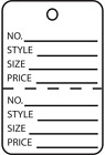 agarose price - White Garment Tags Perforated 2-Piece Unstrung Merchandise Price Jewelry Coupon