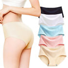Women Ladies Ice Silk Seamless Briefs Lingerie Panties Underwear Underpants Sexy