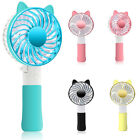 No Pedestal Handheld USB Fox Ear Fan Personal Cooling Rechargeable Portable