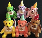 Hard Rock Cafe ASIA '04/'05 KIDS MEAL 2 BOY & 4 GIRL Mini Teddy Bears PARTY HATS