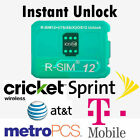 RSIM 12+ New 2018 R-SIM Nano Unlock Card fits iPhone X/8/7/6/6s/5S/ 4G iOS Lot