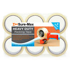 2' Heavy-Duty 2.7mil Clear Shipping Packing Moving Tape 60 yards/180' ea