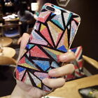 For iPhone X 8 7 Plus Luxury Glitter Diamond Bling Cute Colorful Case Cover