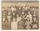 CABINET CARD Photograph Victorian Girls at Banford Rd School Birmingham
