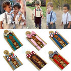Внешний вид - Child Kids Baby Boys Wedding Matching Braces Suspenders and Luxury Bow Tie Set