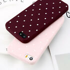For iPhone 5 SE 6s 7 8 Plus X Shockproof Polka Dot Soft TPU Silicone Case Cover
