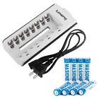 2850/2500/1000mAh AA/AAA Ni-MH Rechargeable Batteries /8 Channel Battery Charger