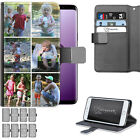 PERSONALISED PHOTO LEATHER PHONE CASE CUSTOM COLLAGE COVER FOR APPLE/SAMSUNG/LG