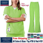 Внешний вид - Cherokee Scrubs Set ORIGINALS Uniform V-Neck Top & Natural Pant(4700/4101)_R