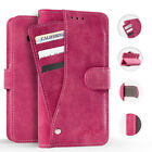 For LG Stylo 4 Premium Slide Out Pocket Wallet Case Pouch Phone Cover Accessory