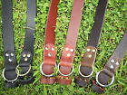 """Handmade O-Ring Genuine Leather Belt Heavy Duty 1 1/4"""" Inch Made in Your Size"""