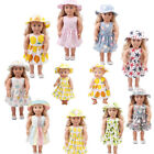 Hat Skirt Dress Clothes Combo Outfits Accessory For 18 inch American Girl Doll