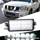 "1x 7"" 36W 12 LED Flood Beam DRL Work Light Bar Offroad Bumper Lamp"