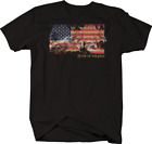 Home of The Free Distressed Faded American Flage USA Freedom Tshirt