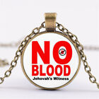 New Jw.org Series NO BLOOD Time Gem Jewelry Chains Glass Necklaces Pendants Gift