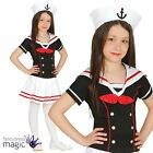 Child Girls Little Sailor Navy Nautical Book Week Fancy Dress Costume Outfit Hat