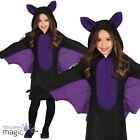Child Girls Vampire Bat Lady Animal Halloween Fancy Dress Costume Outfit Wings