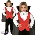 Child Boys Victorian Vampire Count Dracula Halloween Fancy Dress Costume Outfit