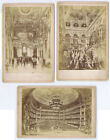 PARIS Scenes in the Natonal Opera House Job Lot of 3 x Cabinet Card Photos c1890