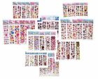Stickers Lot Girl's Favor Stickers - 3D Puffy Scrapbooking Party Paper Crafts A+