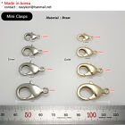 Mini Silver Metal Lobster Clasps Clips Silver Gold Snap hook