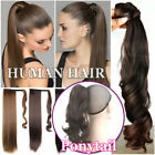 Girls Thick Clip in Remy Human Hair Wrap Around Ponytail Hai