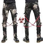 TRIPP SKINNY JEANS GOTHIC CHAOS APOCALYPTIC GOTH PUNK REBELL PANTS STRAP IS7797M