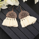 Fashion Women Bohemian Earrings Long Tassel Fringe Drop Dangle Ear Stud Jewelry