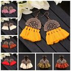 Fashion Women Bohemian Earrings Long Tassel Fringe Drop Dangle Ear Stud Jewelry image