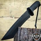 "12"" Hunting Military Survival Combat Fixed Blade Tactical Knife w Sheath Rambo-W"