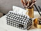 A6 Simple Style Black Cotton Canva Toilet Bathroom Living Room Tissue Box