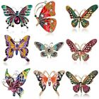 Wholesale Rhinestone Crystal Butterfly Pearl Brooch Pin Women Charm Jewelry Gift image