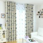 Shade Curtain Flowers Window Grommet Drape House Ventilate Drapery Panel 1PC
