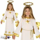 Child Girls Angel Nativity Christmas Play Outfit Fancy Dress Costume Xmas Wings