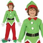 Child Girls Boys Elf Santas Helper Grotto Nativity Christmas Fancy Dress Costume