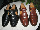 MEZLAN Jamica Brown/black 2 pairs Leather Fisherman Sandals Shoes  Size 8 1/2 M