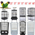 "37"" 57"" 39"" 63"" 68""Small Large Bird Iron Cage Play Parrot Macaw Cage Pet 7 Style"