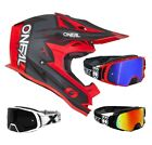 Oneal 7 Series Crosshelm Strain Black Red Two-X Rocket Mx Motocross Goggles