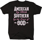 American by Birth Southern by the Grace of God Country Redneck T-shirt