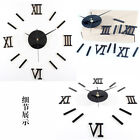 Modern Home DIY 3D Wall Clock Acrylic Sticker Number Mirror Surface Home Decor