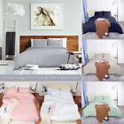 Luxurious Solid Bedding Duvet Quilt Cover Pillow shams Set Twin/Queen/King Size image