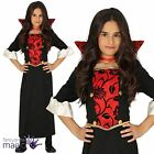 Girls Vampiress Halloween Gothic Victorian Horror Fancy Dress Costume Outfit