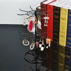 Hot 2-Tier Round Rotating Necklace Earrings Jewelry Display Stand Rack Holder
