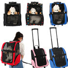 Portable Pet Carrier Dog Cat Rolling Back Pack Trave Airline Trolley Luggage Bag