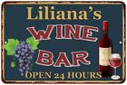 Liliana's Green Wine Bar Wall Décor Kitchen Gift Sign Metal 112180043849