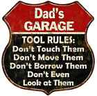 Dad's Garage Tool Rules Personalized Gift 12x12 Red Sign 211110027002